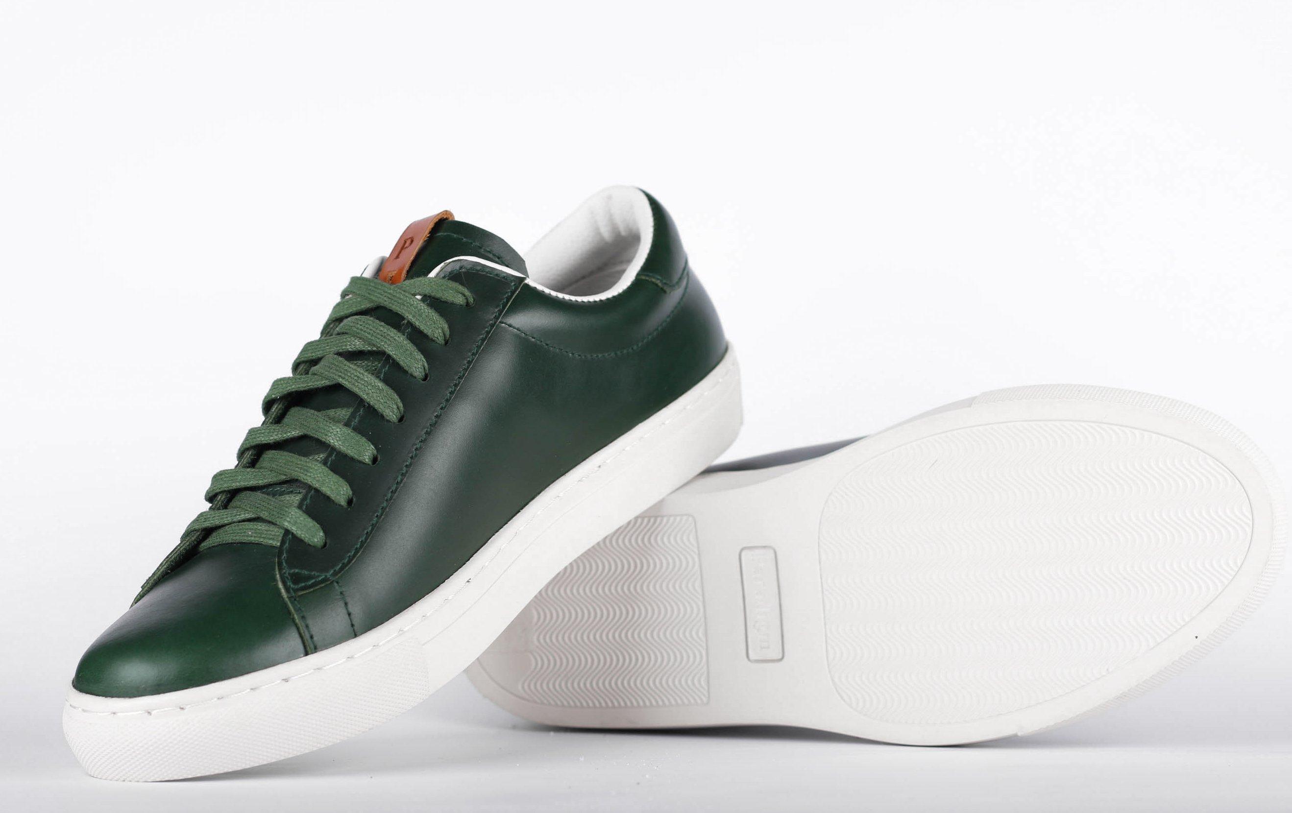 outlet store sale 8b369 01da0 Details zu Paradigm Shoes Herren Berlin Sneaker Italienisch Handgefertigte  Turnschuhe Grün